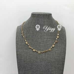 "Coach Floral Star Necklace F76483 Gold 16""- 18"" L"